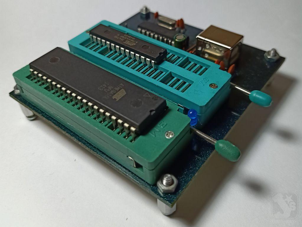Penggunaan Modul Downloader USB AVR910 v1.0 - Atmega DIP40 DIP28