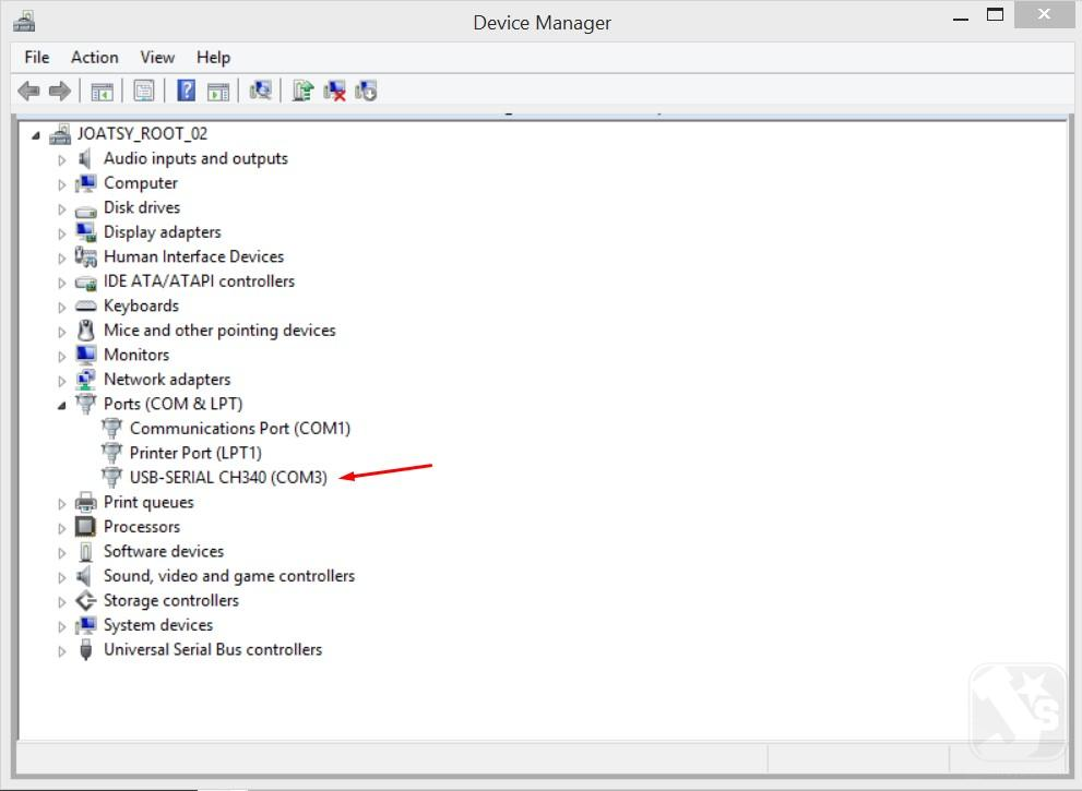 Downloader ISP AVR - Device Manager